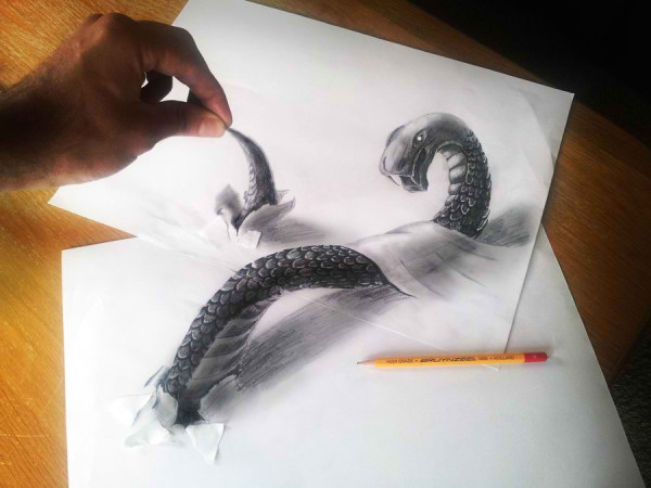 Optical-Illusion-3D-Drawings-on-Paper-by-Ramon-Bruin-aka-JJKAirbrush-39-weare.ir