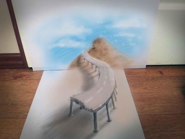 Optical-Illusion-3D-Drawings-on-Paper-by-Ramon-Bruin-aka-JJKAirbrush-41-weare.ir