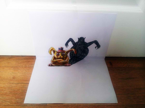Optical-Illusion-3D-Drawings-on-Paper-by-Ramon-Bruin-aka-JJKAirbrush-43-weare.ir