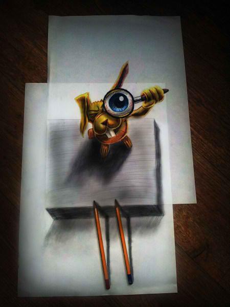 Optical-Illusion-3D-Drawings-on-Paper-by-Ramon-Bruin-aka-JJKAirbrush-44-weare.ir
