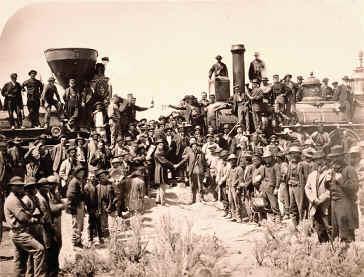 خط آهن صلح که از شرق تا غرب قاره آمریکا کشیده شد