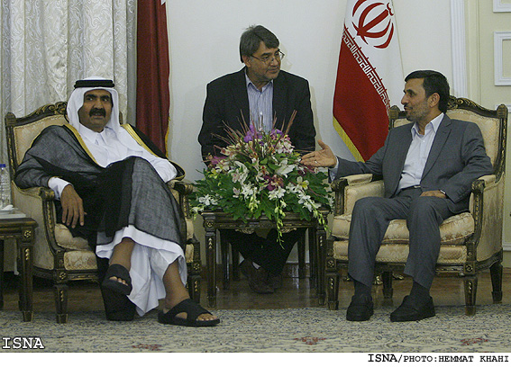 تفاوت دیدار امیر قطر با احمدی نژاد و اوباما