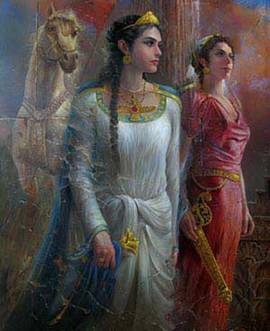 شیرزنان جنگاور ایران باستان.