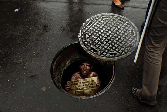تبلیغات خیابانی (درود بر این همه ذوق هنری)