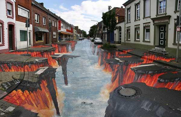 تصاویر سه بعدی خیابانی