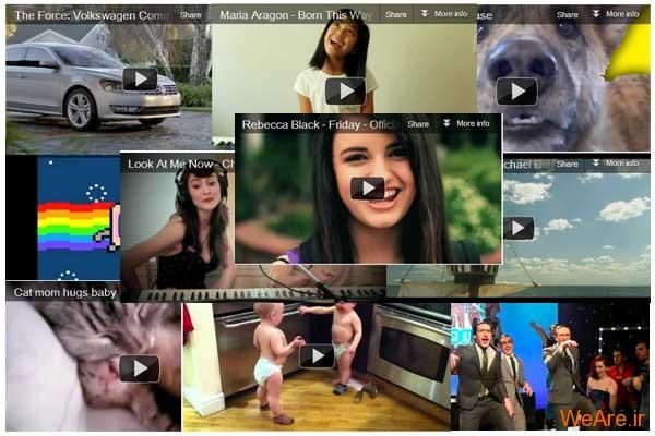 ۱۰ کلیپ برتر یوتیوب در سال ۲۰۱۱
