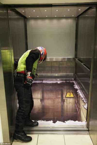 توهم آسانسور در لندن