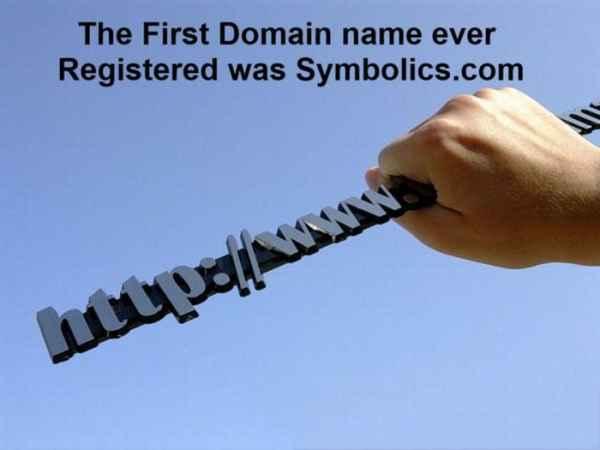 اولین دامنه اینترنتی ثبت شده در جهان www.Symbolics.com بوده است