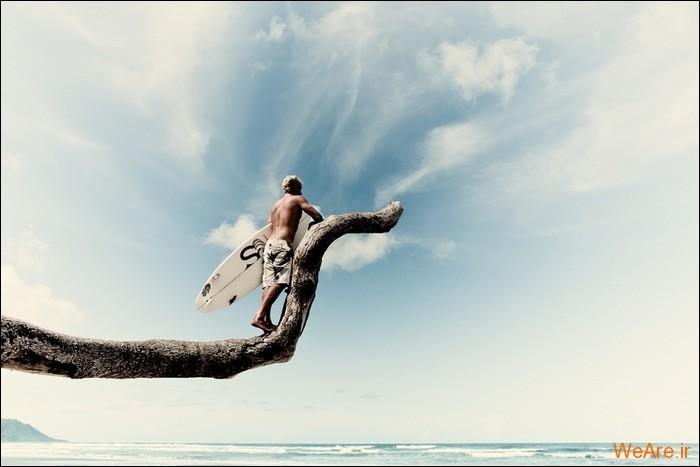 تصاویر اعجاب انگیز از موج سواری (حتما ببینید)