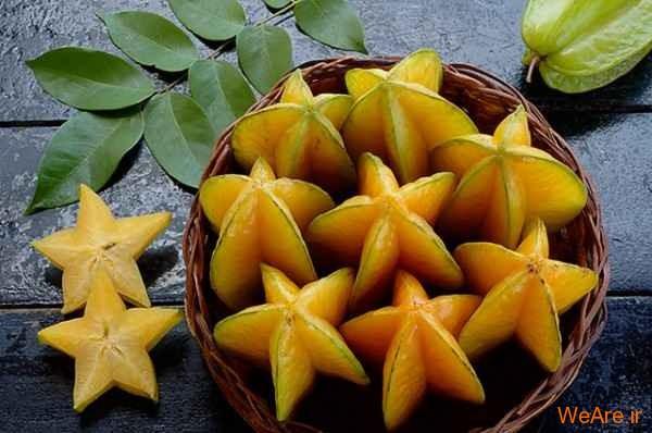 میوه ستاره ای معروف به Carambola