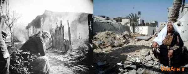 مقایسه جنایات هیتلر با یهودیان و آنها با فلسطینیان