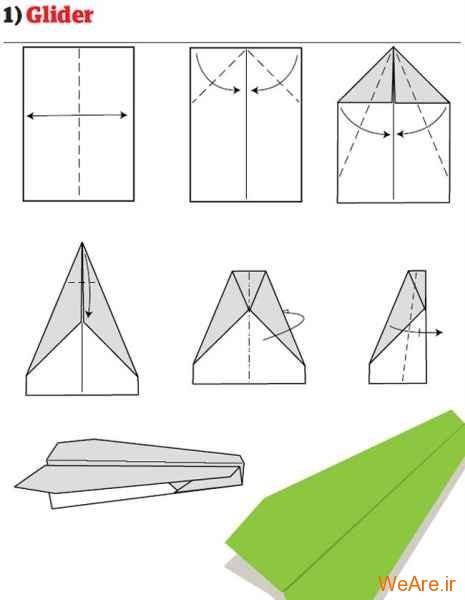 ساخت هواپیمای کاغذی (2)
