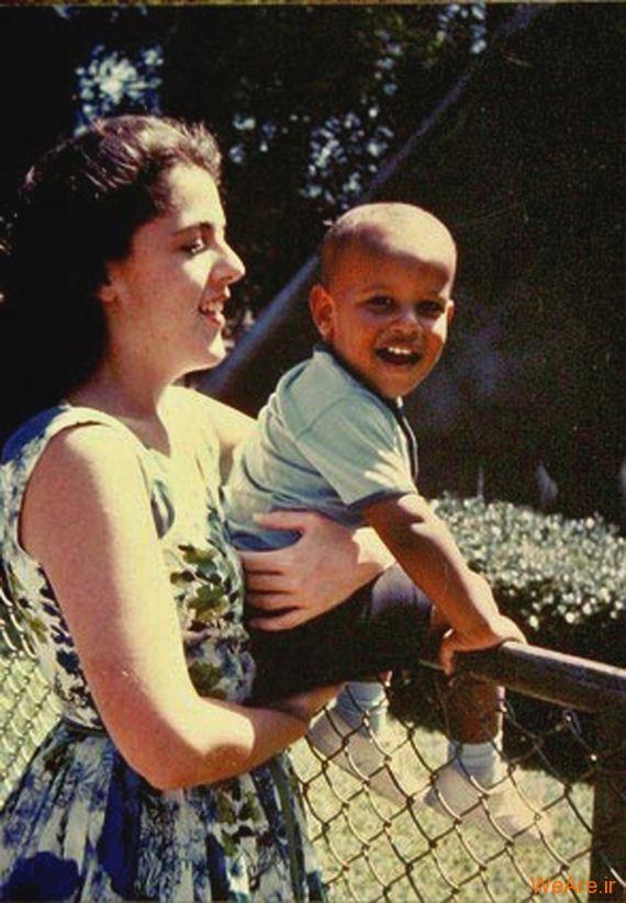 عکس بچگی اوباما (1)