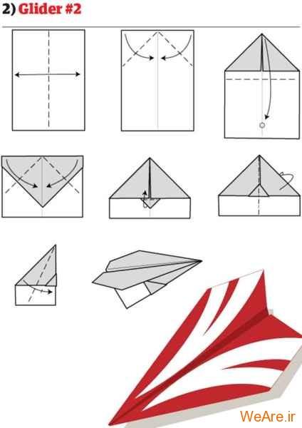 ساخت هواپیمای کاغذی (3)