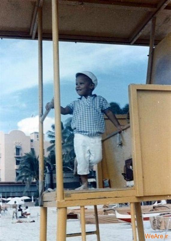 عکس بچگی اوباما (4)