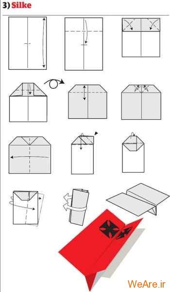 ساخت هواپیمای کاغذی (4)