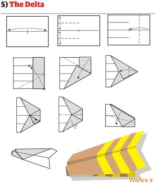 ساخت هواپیمای کاغذی (6)