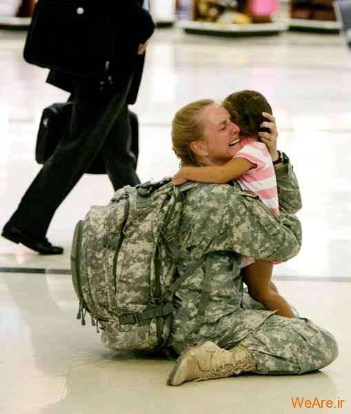 بازگشت Terri Gurrola پس از هفت ماه حضور در جنگ عراق