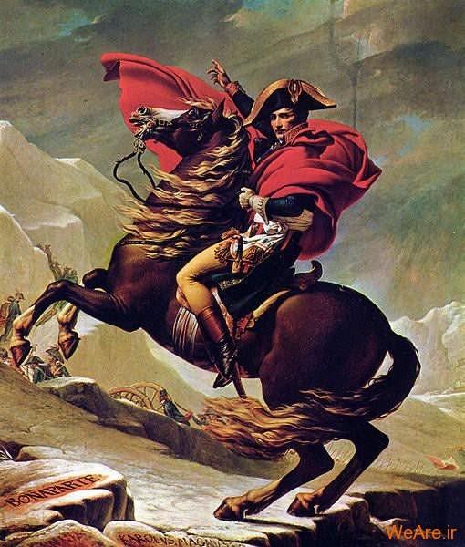ناپلئون در حال عبور از گردنهٔ سنت برنارد بزرگ در آلپ