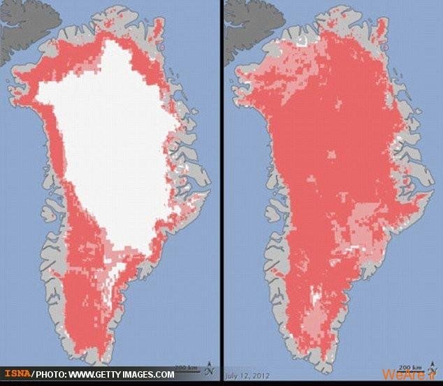 ذوب بیسابقه صفحه یخی قطبی ناسا را شوکزده کرد