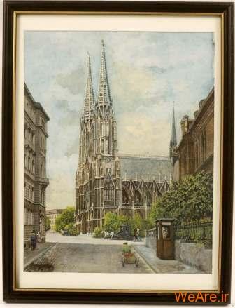 کلیسای جامع در وین - نقاشی هیتلر