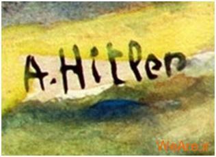 نمونه ای امضای جعلی هیتلر