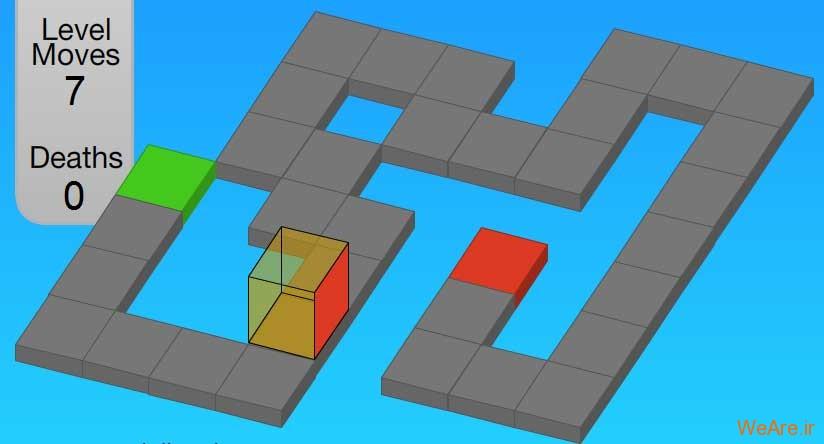 بازی فکری فوق العاده زیبا – Cube Roll
