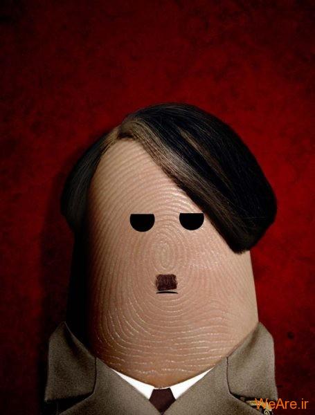 عکس هنری شخصیت ها با انگشت (15)