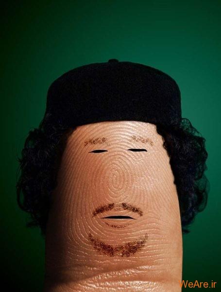 عکس هنری شخصیت ها با انگشت (8)