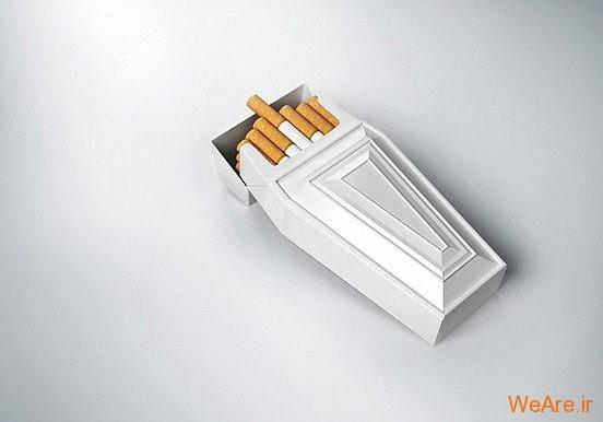 تصاویر خلاقانه، سیگار و مرگ