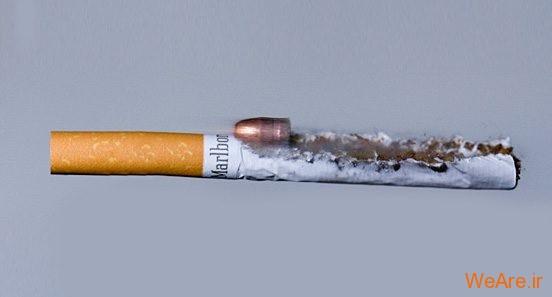 تصاویر خلاقانه، سیگار و فشنگ