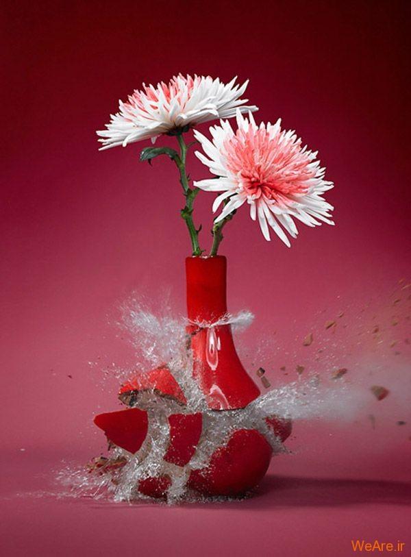 عکس  سرعت بالا از شکست گلدان (5)