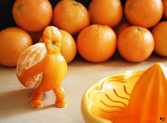تصاویر خلاقانه، پرتقال زرنگ