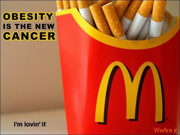 مکدونالد و چاقی مفرط