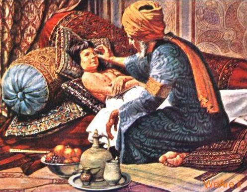 زکریای رازی در حال طبابت