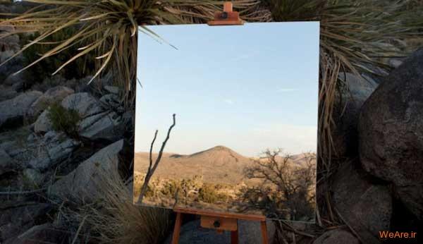 خلاقیت در خلق تابلوهای هنری با آیینه/ خلق آثار هنری بدست خالق