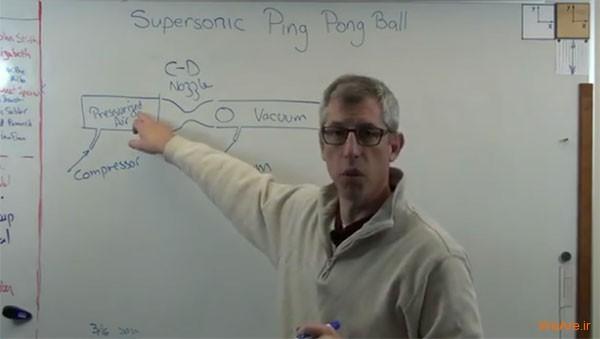 وقتی که توپ پینگ پنگ راکت را سوراخ می کند! / ویدئو