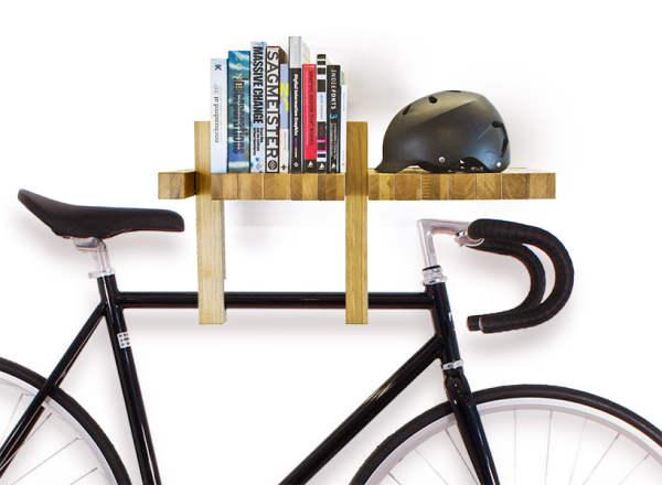 کتابخانه خلاقانه و جالب با چوب (2)