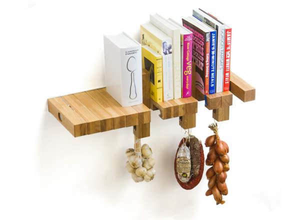 کتابخانه خلاقانه و جالب با چوب (1)