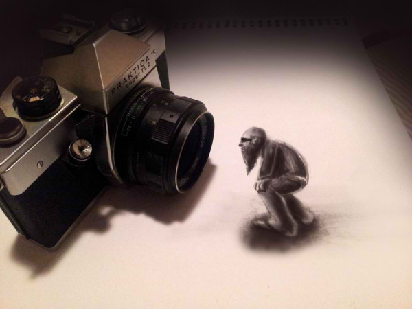 تصاویر سه بعدی،آنامورفیک