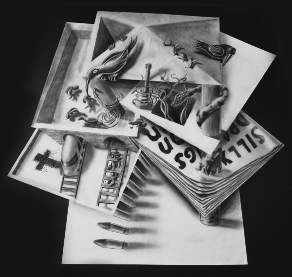 Optical-Illusion-3D-Drawings-on-Paper-by-Ramon-Bruin-aka-JJKAirbrush-2-weare.ir