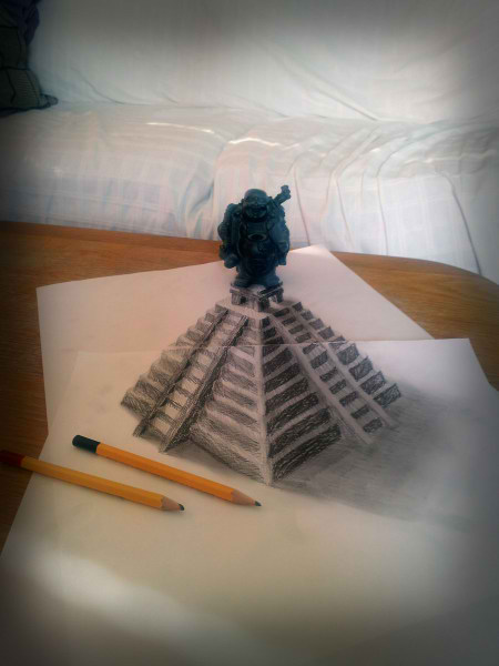 Optical-Illusion-3D-Drawings-on-Paper-by-Ramon-Bruin-aka-JJKAirbrush-29-weare.ir