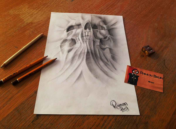 Optical-Illusion-3D-Drawings-on-Paper-by-Ramon-Bruin-aka-JJKAirbrush-33-weare.ir