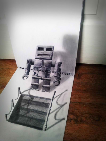Optical-Illusion-3D-Drawings-on-Paper-by-Ramon-Bruin-aka-JJKAirbrush-34-weare.ir