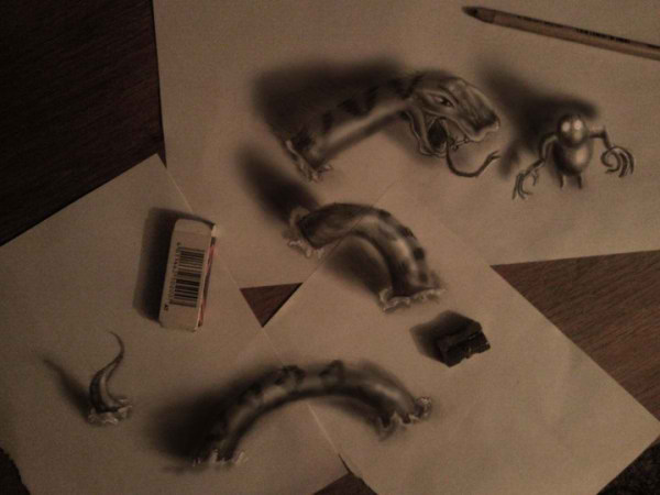 Optical-Illusion-3D-Drawings-on-Paper-by-Ramon-Bruin-aka-JJKAirbrush-47-weare.ir