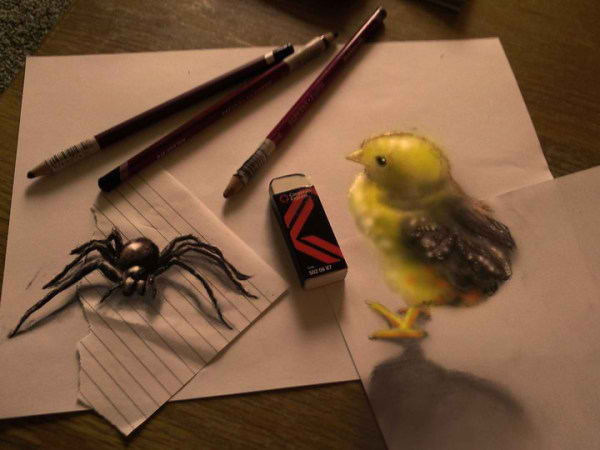 Optical-Illusion-3D-Drawings-on-Paper-by-Ramon-Bruin-aka-JJKAirbrush-48-weare.ir