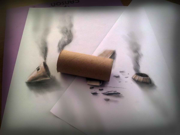 Optical-Illusion-3D-Drawings-on-Paper-by-Ramon-Bruin-aka-JJKAirbrush-50-weare.ir