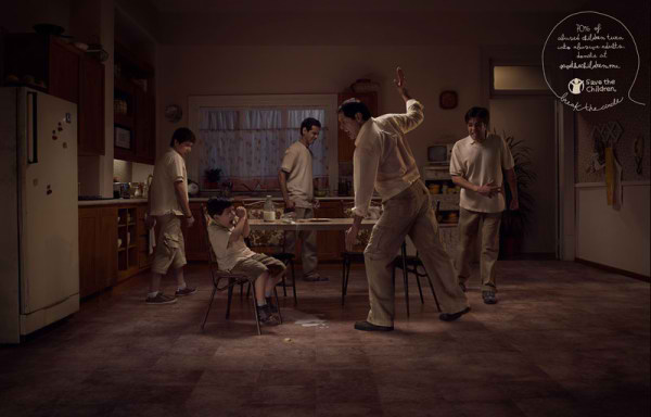 70٪ از کودکان مورد آزار قرار گرفته را به بزرگسالان آزار رسان تبدیل می شوند، تبلیغات اجتماعی