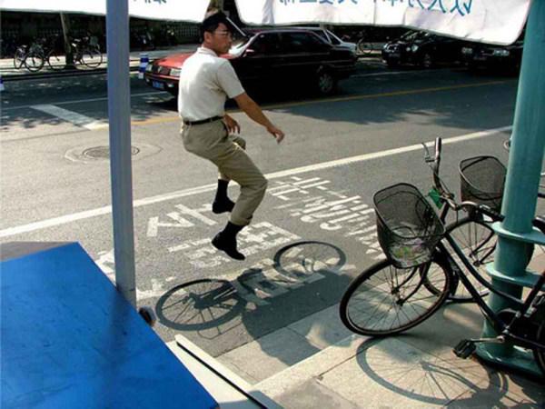 دستکاری عکس، دوچرخه سواری