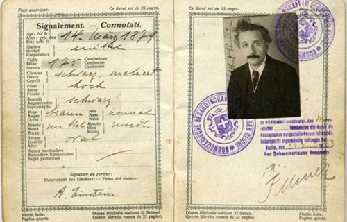 شناسنامهAlbert-Einstein,گذرنامهAlbert-Einstein,مشخصات خصوصیAlbert-Einstein